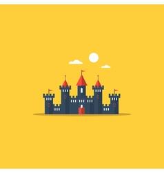 Big castle kingdom concept vector