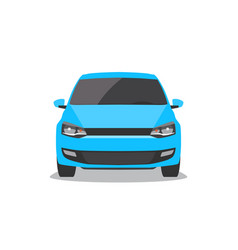 blue car front view vector image