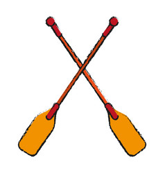 Boat oars icon imag vector