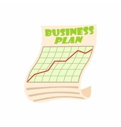 Business plan icon cartoon style vector