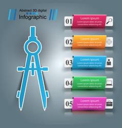 Devider business paper infographic vector