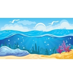 Game seascape background vector