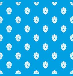 Goalkeeper mask pattern seamless blue vector