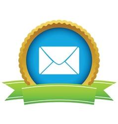 Gold letter logo vector