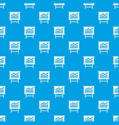 Growing chart presentation pattern seamless blue vector