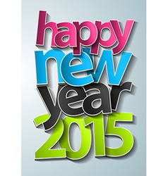 Happy new year 2015 text design modern template vector image vector image