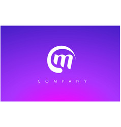 M logo m letter icon design vector
