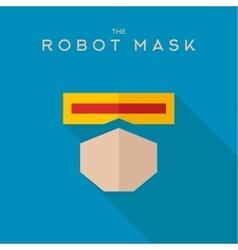 Mask robot hero superhero flat style icon vector