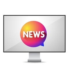 News tv screen vector