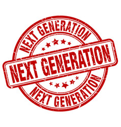 Next generation red grunge stamp vector