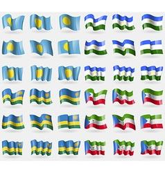 Palau bashkortostan rwanda equatorial guinea set vector