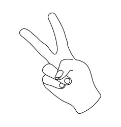 Peace symbol gesturehippy single icon in outline vector