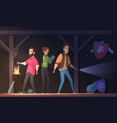 Reality quest cartoon vector