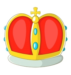 Royal crown icon cartoon style vector