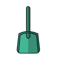 Sand bucket shovel icon vector