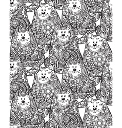 Seamless pattern with hand drawn doodle graphic vector image vector image