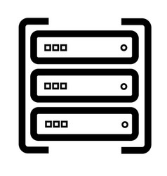 server icon vector image