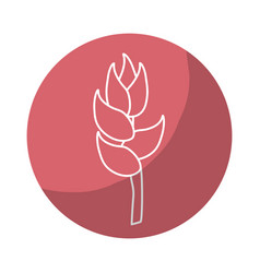 Sticker beauty exotic and tropical flower branch vector