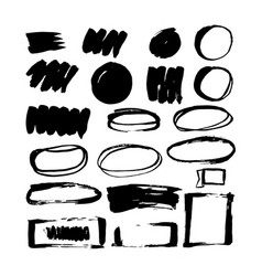 The stain brushes for design vector