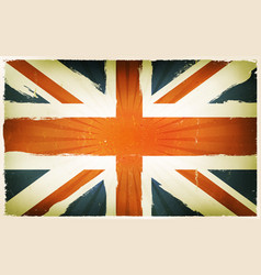 Vintage english flag poster background vector