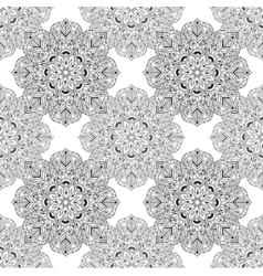 Zentangle Mandala seamless pattern in doodle style vector image