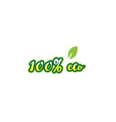 100 eco word font text typographic logo design vector image