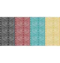 Tribal seamless ethnic african pattern with lines vector