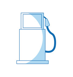 gas pump station ecology transport image vector image
