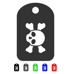 Morgue mark flat icon vector