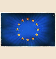 vintage european union flag poster background vector image