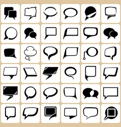 36 speech balloons set vector image