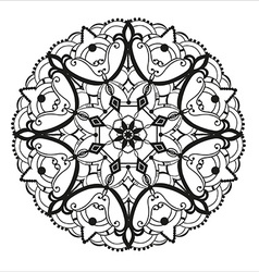 Circular ornament in ethnic style vector