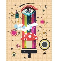Surreal eye vector