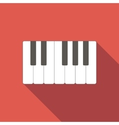 Piano keys icon vector