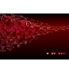 I love you words background valentines card vector