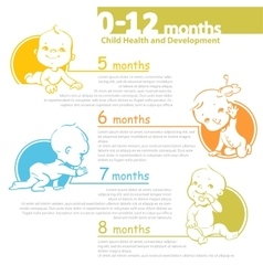 Baby growing up infographic vector