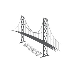 San francisco-oakland bay bridge vector