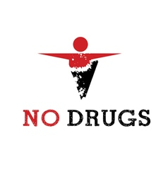 Abstract icon man released of drugs vector