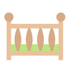 Baby crib flat icon baby cot and bed vector