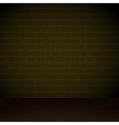 brick wall at night vector image vector image