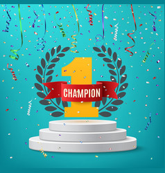Champion winner number one background vector