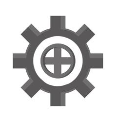 Cog wheel industry icon vector