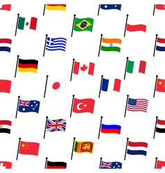 color flags of different country seamless pattern vector image vector image