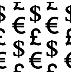 Currency symbols seamless pattern vector image vector image