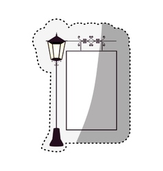 Empty frame with street light ornament vector