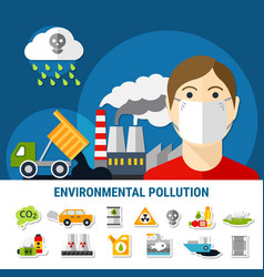 Environmental pollution vector