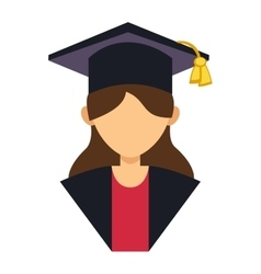 Graduation people uniform avatar vector image vector image
