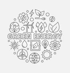 green energy linear vector image vector image