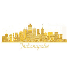 Indianapolis usa city skyline golden silhouette vector