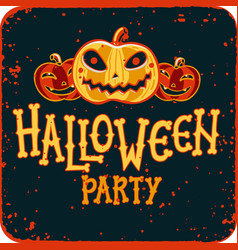 invitation to halloween night party vintage card vector image